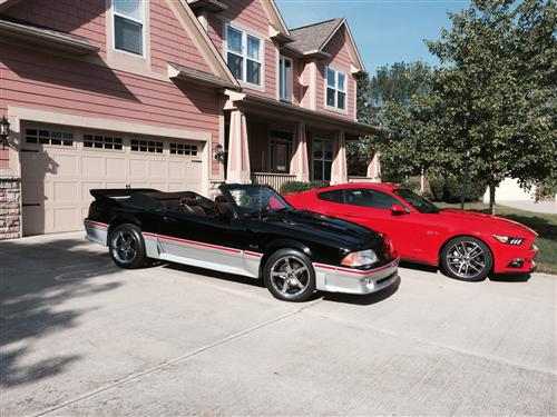 Dwight L's 1990 and 2015 FORD Mustang GT's