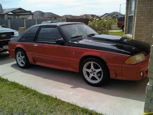jose madrigal's 1989 ford mustang