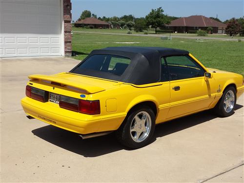 RALPH PERKINS's 1993 FORD MUSTANG LX YELLOW LIMITED EDITION